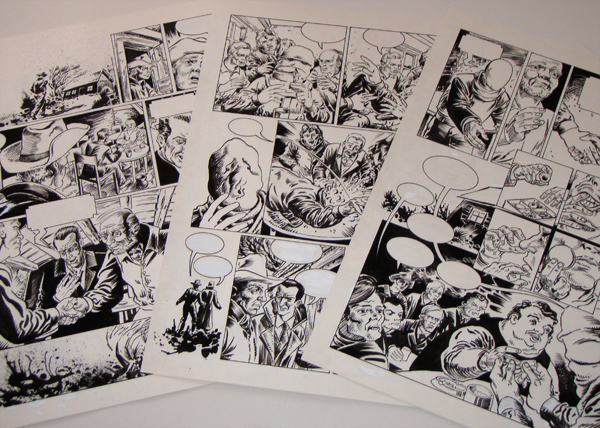Mehrere Comic-Originalseiten